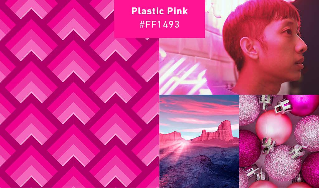 «Пластиковый розовый» в примерах