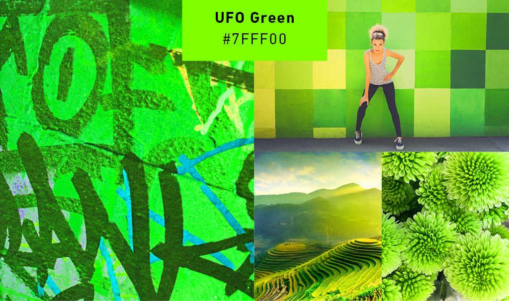 «Инопланетный зеленый» цвет в примерах